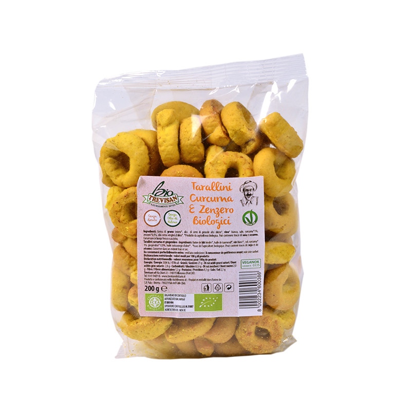 Tarallini turmeric and ginger - organic 200gr