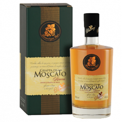 Grappa di Moscato aged 18 months  (40% vol. , 70 cl.)
